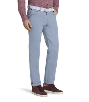 Meyer Chicago Micro-Striped Cotton Chinos