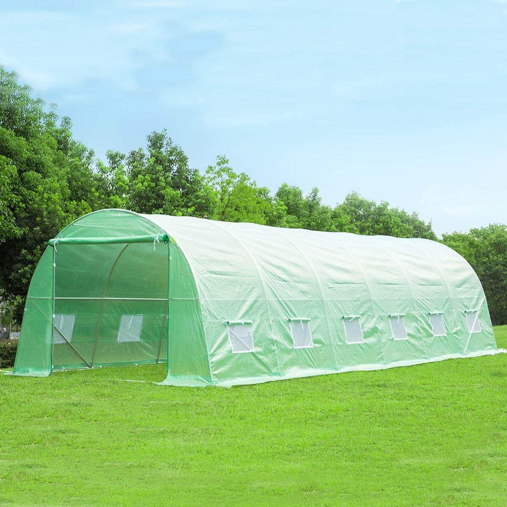 26'x10'x7' Large Tunnel Greenhouses, Green