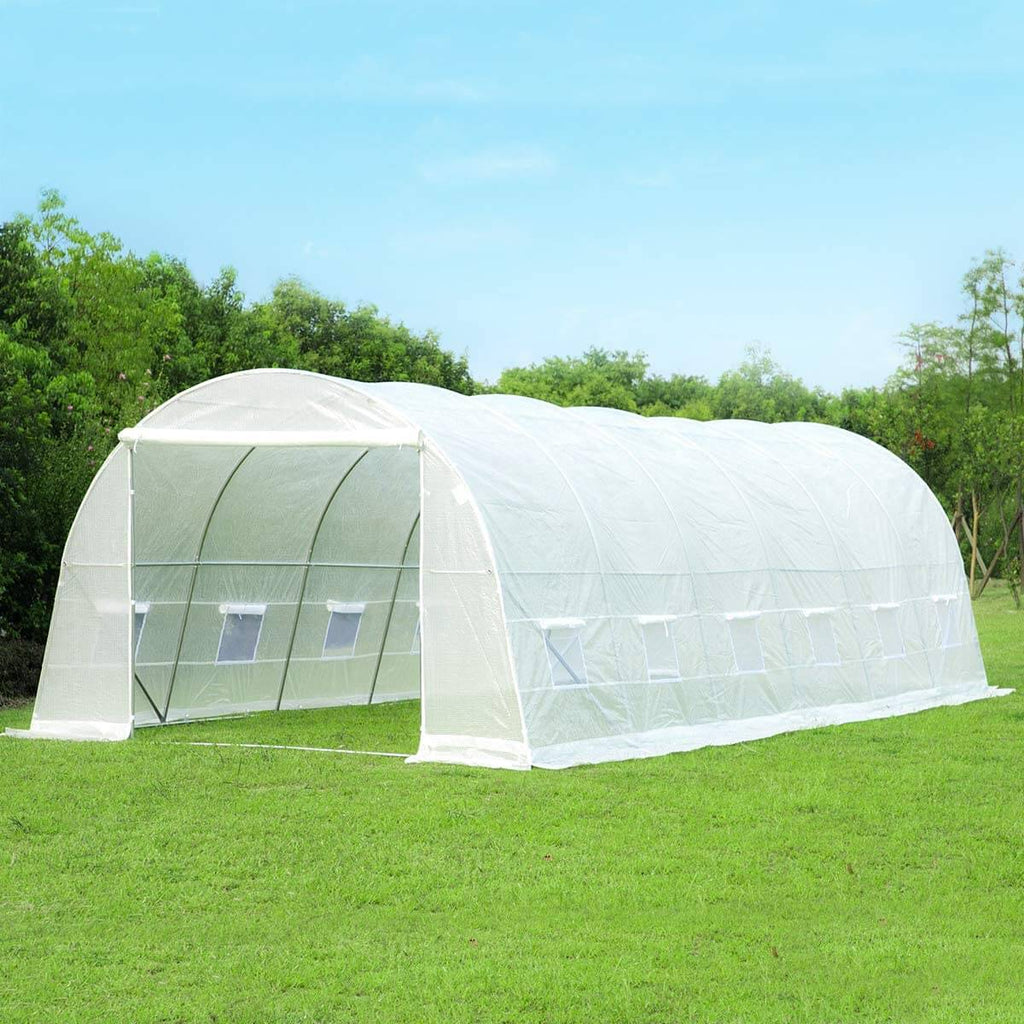 26'x10'x7' High Tunnel Greenhouses, White