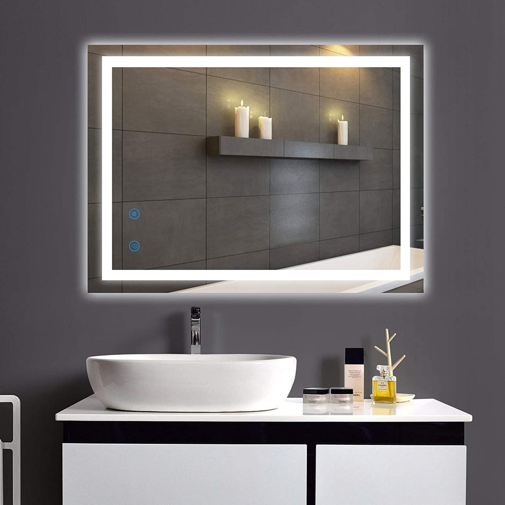 LED Bathroom Mirror, Dimmable Anti-Fog Wall Mount Mirror with Light, 28 x 36 Inch, True CRI 95+, CCT Adjustable, UL Certification & IP 54 Waterproof