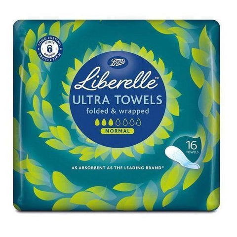 Boots Liberelle Ultra Towels Normal Wrapped 16s