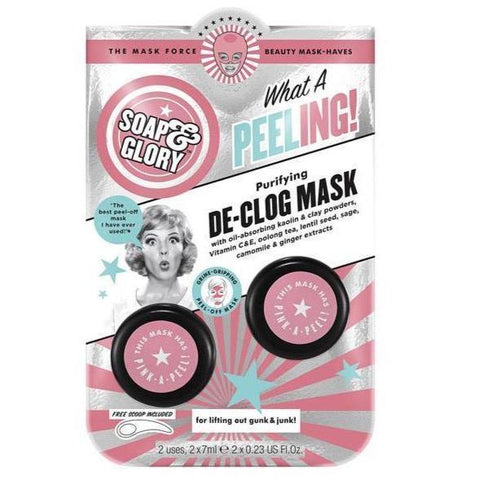 Soap & Glory What a Peeling! De-Clog Mask - 2 Pack