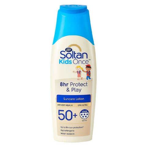 Soltan Kids 8hr Protect & Play SPF50+ 200ml Sun Cream