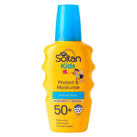 Soltan Kids Protect & Moisturise SPF50+ 200ml Sun Cream Spray