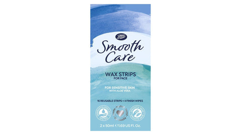 Boots Smooth Care Sensitive Wax Strips for Face 20s