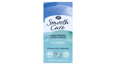 Boots Smooth Care Wax Strips for Bikini & Underarm