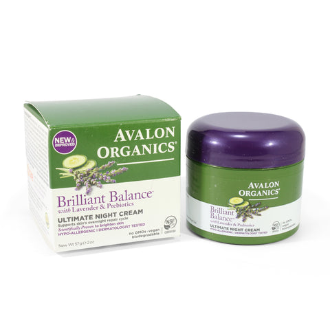 Avalon Organics 57g Lavender & Prebiotics Brilliant Balance Night Cream