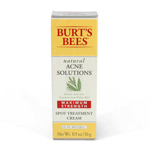 Burt's Bees 10g Natural Acne Solutions Spot Treatment Cream Max Strength