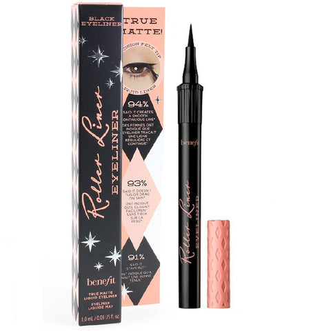 Benefit Cosmetics 1mL Roller Liner True Matte Black Liquid Eyeliner