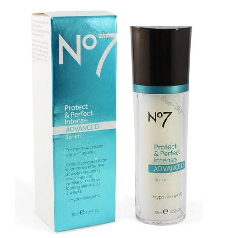 Boots No. 7 30mL Protect & Perfect Intense Serum Bottle