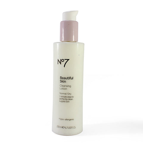 Boots No. 7 200mL Beautiful Skin Cleansing Lotion Normal/Dry