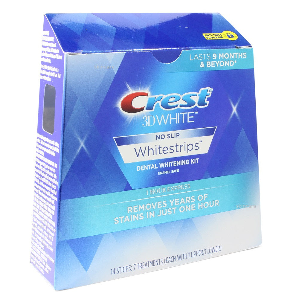 Crest 3D White 7 x 1 Hour Express Teeth Whitening Strip Treatments