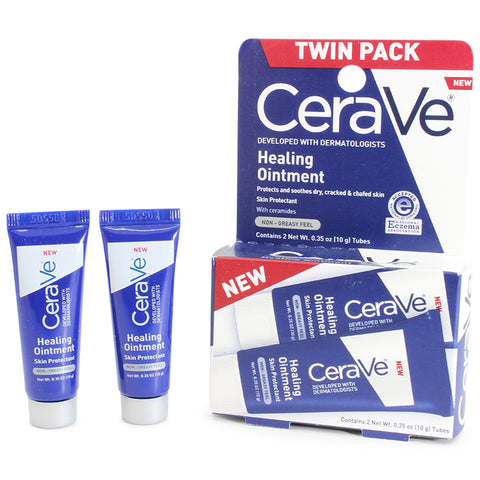 CeraVe 2 x 10g Healing Ointment Tubes for Dry, Cracked and Chafed Skin