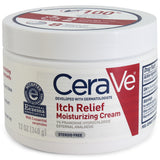 CeraVe 340g Itch Relief Moisturising Cream Tub