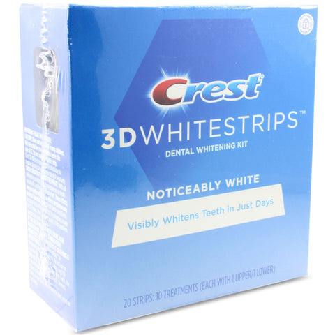 Crest 3D Dental Whitening Kit Noticeably White Whitestrips 10 Treatments