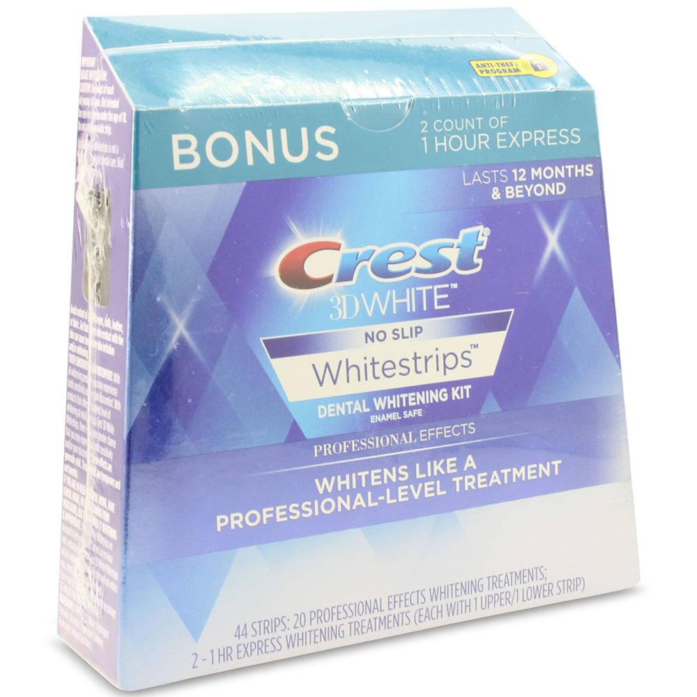 Crest 3D White 40 Professional Effects Teeth Whitening Strips with Bonus 1 Hour