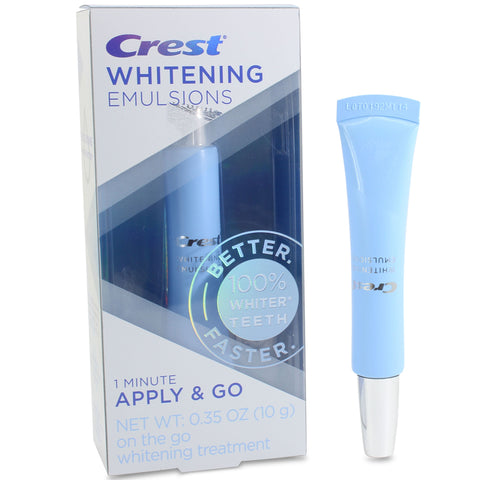Crest 10g Teeth Whitening Emulsions 1 Minute Apply & Go Treatment