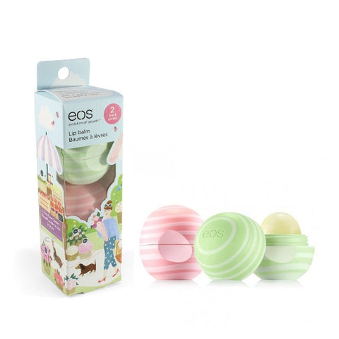eos 2 Pack Organic Lip Balm Cucumber Melon & Coconut Milk