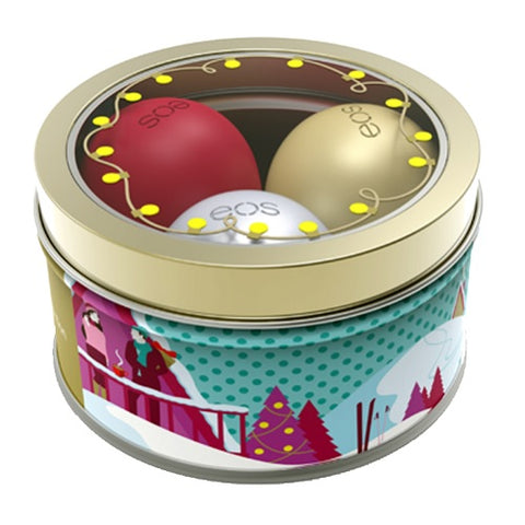 eos 3 Pack Holiday Collection Lip Balm Limited Edition Tin