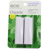 eos 2 Pack Pure and Free Lasting Hydration Smooth Stick Organic Lip Balm