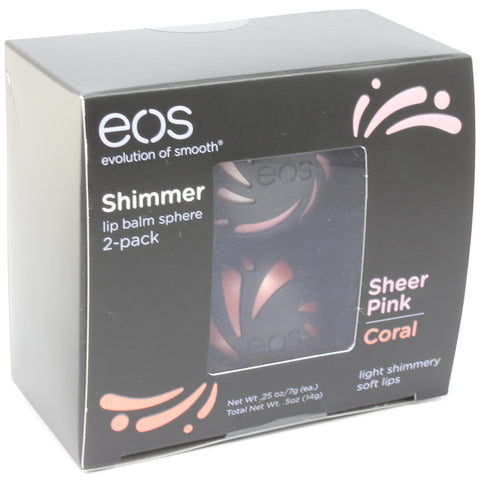 eos 2 Pack Shimmer Smooth Lip Balm Sphere