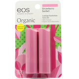 Eos Strawberry Sorbet Smooth Stick Organic Lip Balm 2 Pack