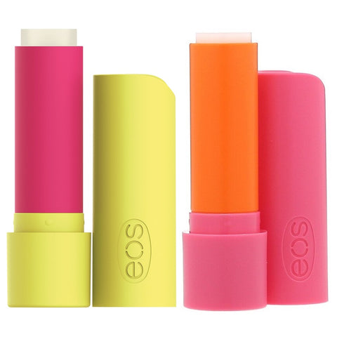 Eos 2-Pack Pineapple Passionfruit & Strawberry Peach Super Soft Shea Lip Balm Sticks