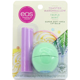 Eos Lip Balm Toasted Marshmallow 4g Lip & Triple Mint 7g 2-Pack