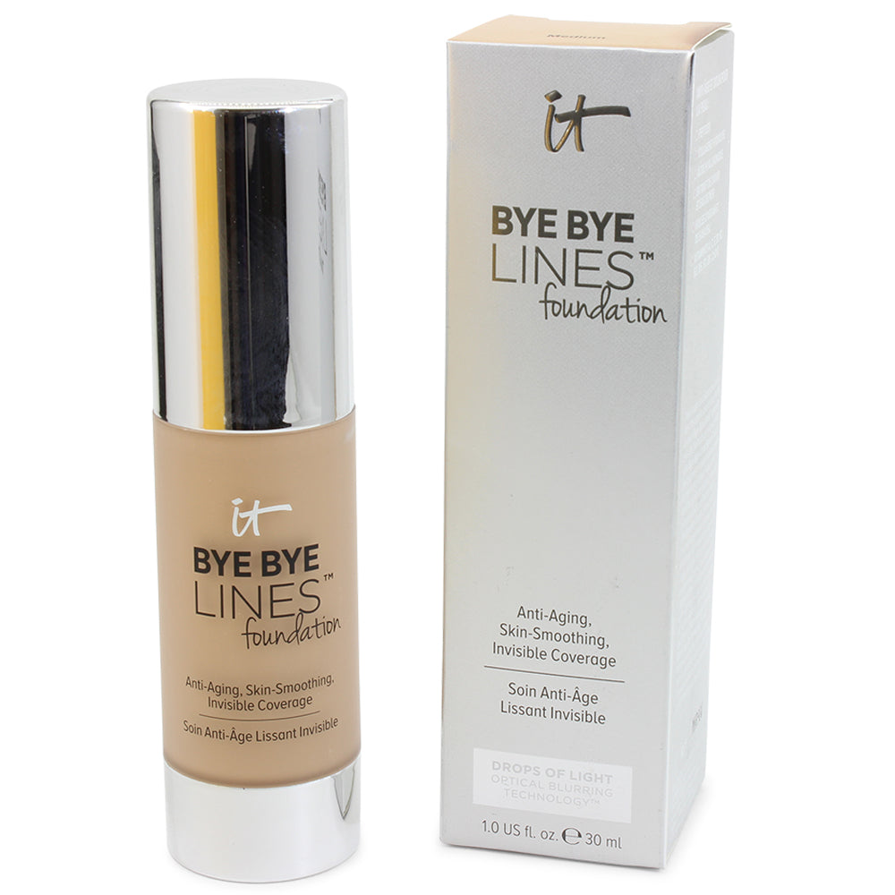 IT Cosmetics 30mL Bye Bye Lines Foundation Invisible Coverage (Medium Shade)