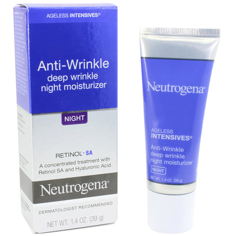 Neutrogena 39mL Ageless Intensives Anti-Wrinkle Deep Wrinkle Night Moisturiser