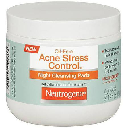 Neutrogena 60 x Acne Stress Control Night Cleansing Pads