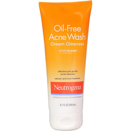 Neutrogena 200mL Oil Free Acne Wash Cream Cleanser