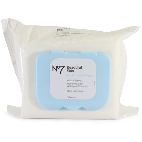 Boots No 7 30 x Beautiful Skin Quick Thinking Wipes