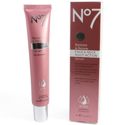 Boots No. 7 50mL Restore & Renew Face & Neck Multi Action Serum