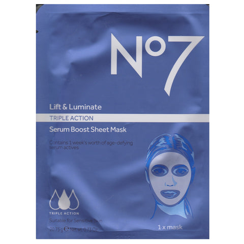 Boots No. 7 20g Lift and Luminate Serum Boost Sheet Mask