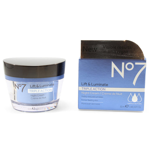Boots No. 7 50mL Lift & Luminate Triple Action Night Cream