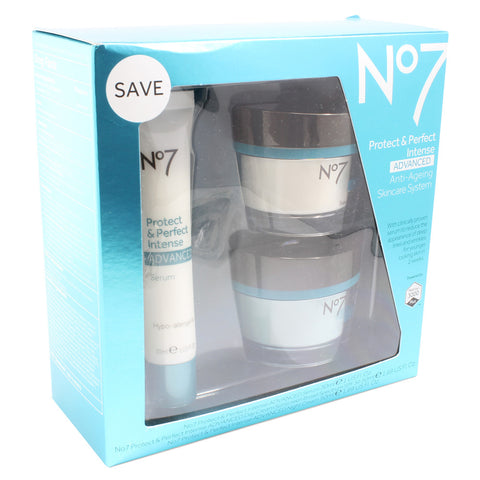 Boots No. 7 Protect and Perfect Intense Advanced 3 Piece Anti-Ageing Skincare System