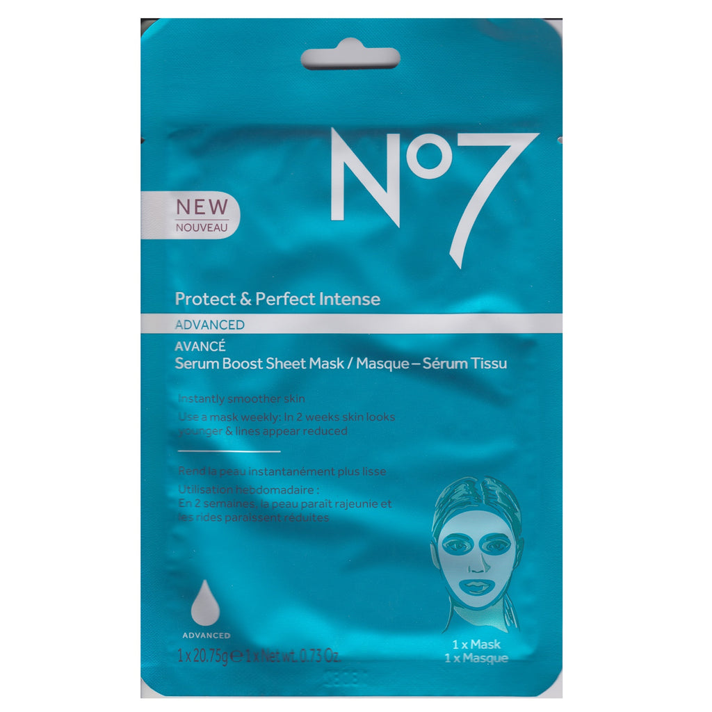 Boots No. 7 20g Protect and Perfect Intense Serum Boost Sheet Mask