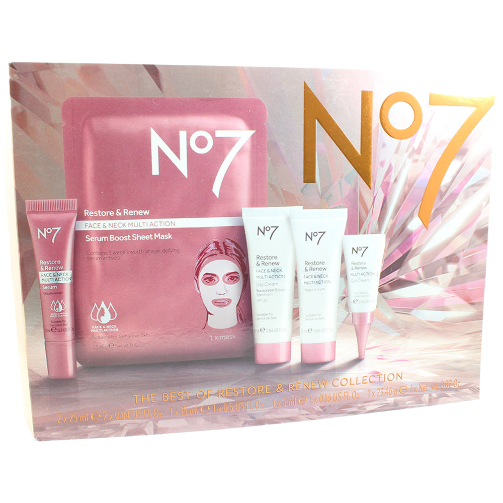 Boots No. 7 Restore and Renew Best of 5-Piece Skincare Kit