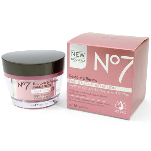 Boots No. 7 50mL Restore & Renew Multi Action Night Cream