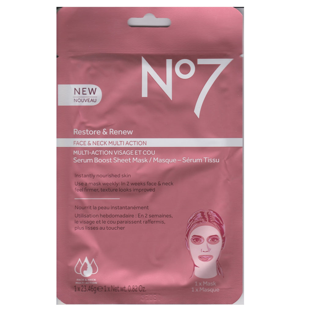 Boots No. 7 23g Restore and Renew Serum Boost Sheet Mask