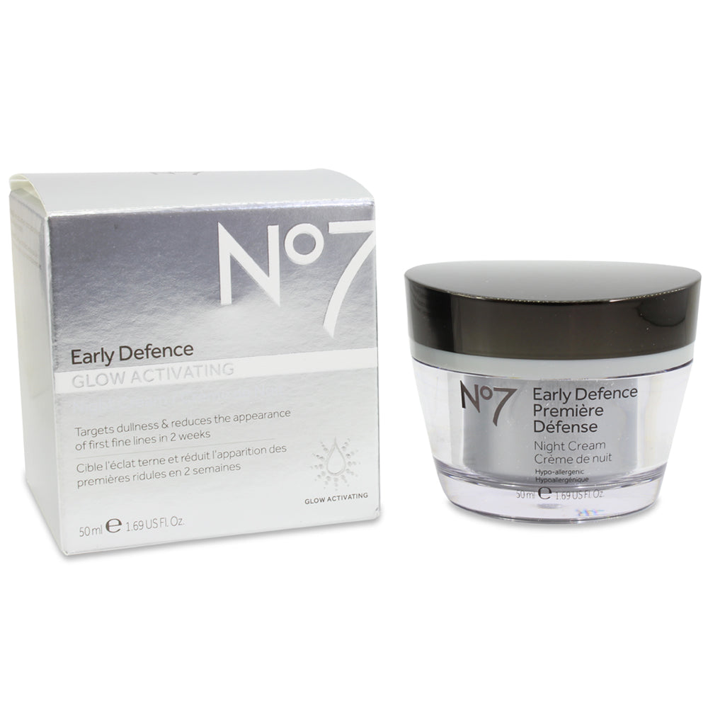 Boots No. 7 50mL Early Defence Glow Activating Night Cream