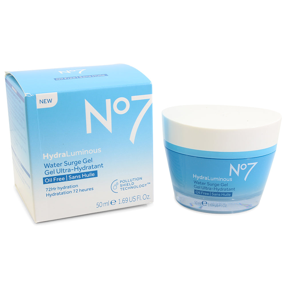 Boots No. 7 50mL Hydra Luminous Water Surge Gel Ultra-Hydratant Oil Free