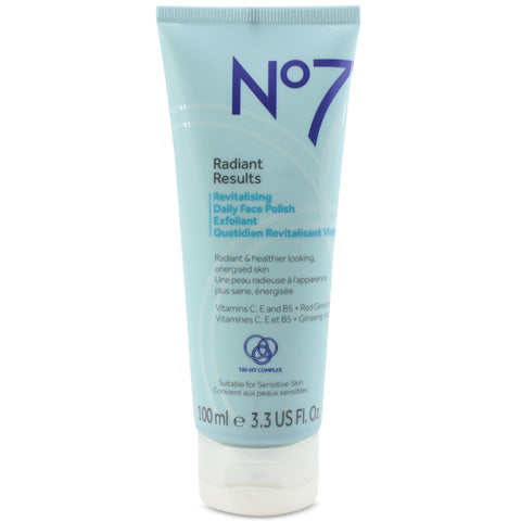 Boots No. 7 100mL Radiant Results Revitalising Daily Face Polish Exfoliant