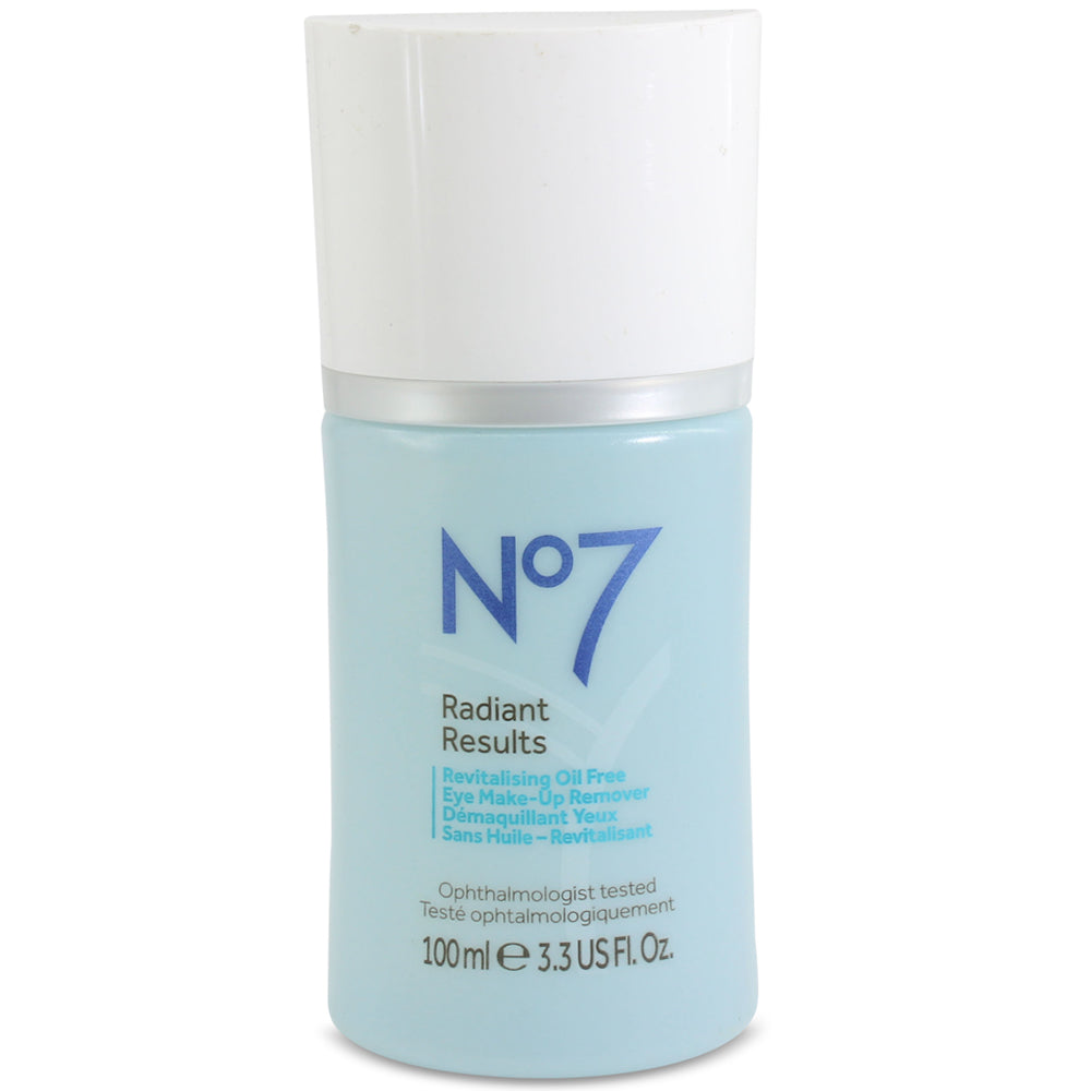 Boots No. 7 100mL Radiant Results Revitalising Oil Free Eye Make up Remover