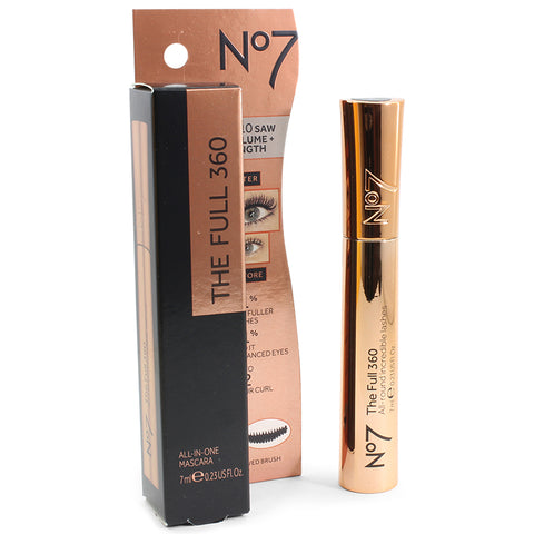 Boots No 7 7mL The Full 360 Mascara Black or Brown-Black