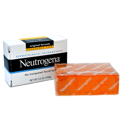 Neutrogena 100g Fragrance Free Transparent Facial Bar