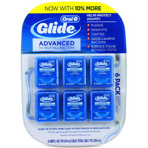 Oral-B Glide 6 x 44m Advanced Multi-Protection Clean Mint Dental Floss