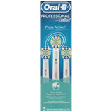 Oral B Braun 3-Pack Floss Action Replacement Tooth Brush Head EB25
