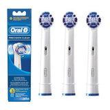 Oral B Braun 3-Pack Precision Clean Tooth Brush Head EB20-3